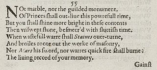 Sonnet 55 poem by William Shakespeare