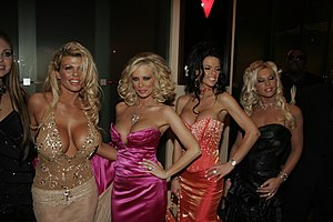 ClubJenna - Club Jenna contract girls Sophia Rossi, Jenna Jameson, Chanel St. James and Ashton Moore at the 2006 AVN Awards