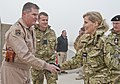 Sophie, Countess of Wessex, shakes hands with Brig Gen Thomas Deale at Kandahar Airfield.jpg