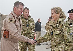 Sophie, Countess of Wessex - Sophie dressed as Honorary Air Commodore on a visit to Kandahar, December 2011