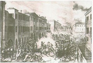 Battle of Mestre - The Venetian sortie on Mestre, 1848