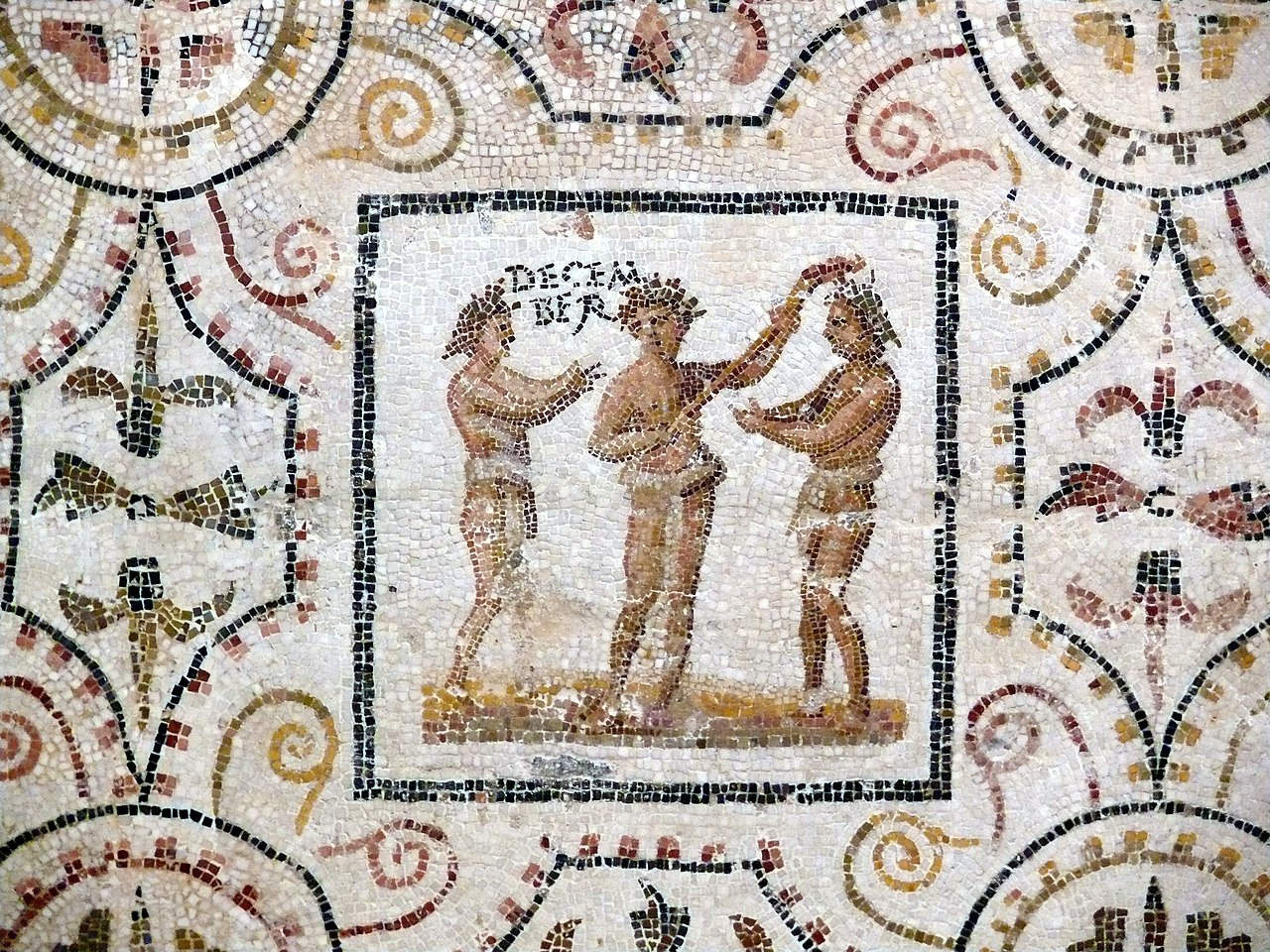 Sousse mosaic calendar December.JPG