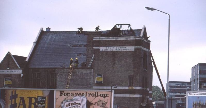 South London warehouse fire 1980