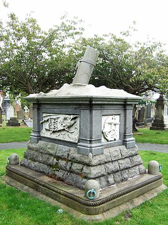 Southport - Memorial to the crew of the Eliza Fernley lifeboat, in Duke Street Cemetery