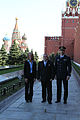 Soyuz TMA-09M crew at the Kremlin Wall.jpg