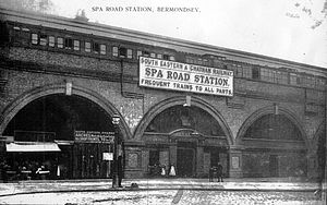 Spa Road railway station - Spa Road station circa 1900