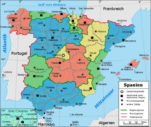 spanien regionen karte Liste der Provinzen Spaniens – Wikipedia spanien regionen karte