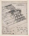 Speculum Romanae Magnificentiae- Corinthian entablature MET DP870157.jpg