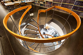 Spiral stairs in the National Library of Israel 2.jpg