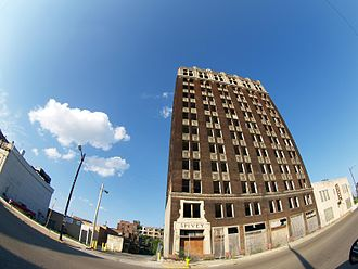 East St. Louis, Illinois - Although abandoned for decades, the Spivey Building in the downtown neighborhood, remains the tallest building in the city.