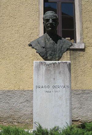 Drago Gervais - Monument of Drago Gervais in Žminj.