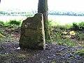 Stèle sur le lieux ou furent retrouver les corps - Sainte Colombe des Bois.JPG