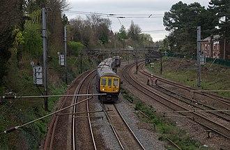 Quadruple track - Quadruple track section of the Midland Main Line, England