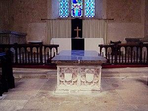 Thomas de Camoys, 1st Baron Camoys - Chest tomb of Thomas Camoys, 1st Baron Camoys, chancel of St George's Church, Trotton
