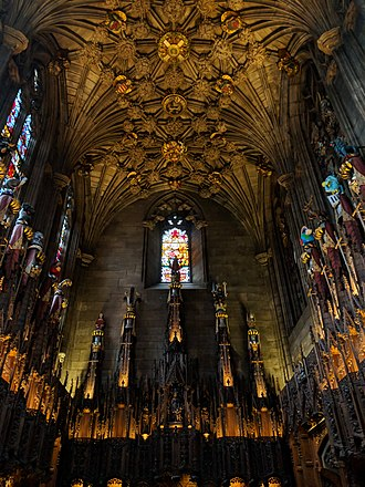 Thistle Chapel at Edinburgh's High Kirk (completed 1910) St Giles' Cathedral, High Street, Royal Mile, Edinburgh (57) - The Thistle Chapel.jpg
