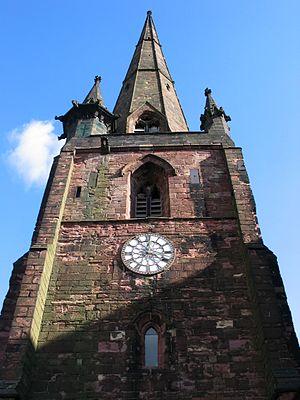 Wolstanton - Image: St Margaret's Church Spire 2004