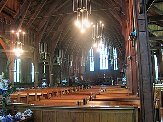 Holy Trinity Cathedral, Auckland - The interior of St Mary's Cathedral Church