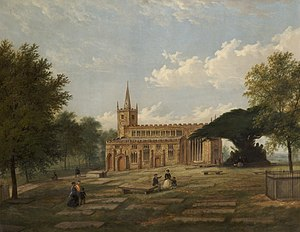 St Mary the Virgin's Church, Deane - Deane Parish Church, c.1860 by James Howe Carse