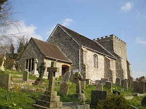 Bramber - Image: St Nicholas parish church, Bramber