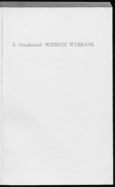 File:Stanisław Grochowiak - Wiersze wybrane.djvu