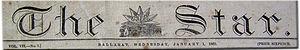 The Ballarat Star - The Star banner Ballarat, Wednesday, 1 January 1862