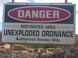 Starr 031007-0039 Danger - Unexploded Ordnance - Restricted Area - sign