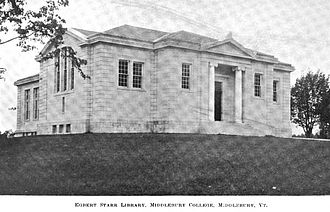 Middlebury College - Starr Library, Middlebury's original library, circa 1900