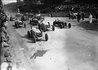 1931 Belgian Grand Prix - Start of the race