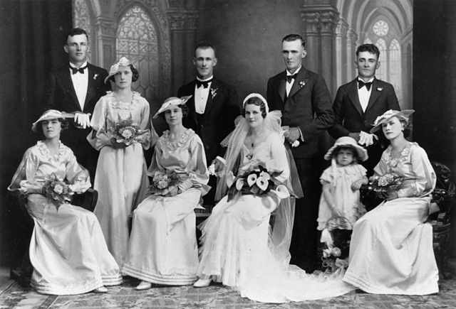 File Statelibqld 1 140295 Portrait Of A Wedding Party