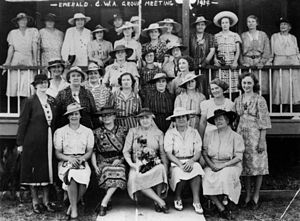 Country Women's Association - CWA group meeting in Emerald, 1939