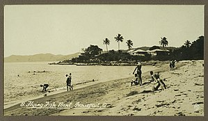 Flying Fish Point, Queensland - Enjoying the beach at Flying Fish Point, 1930