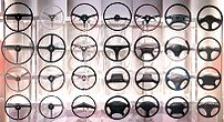 Steering wheels from different periods