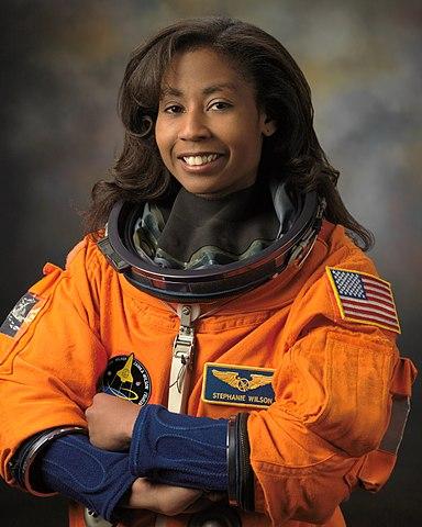 Astronaut Stephanie Wilson, NASA photo (2008)Source: Wikipedia 384px-Stephanie_Wilson_in_2008.jpg