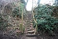 Steps taking the Greensand Way east from Hunton Hill - geograph.org.uk - 1157747.jpg
