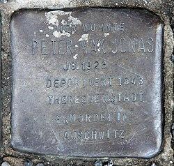 Photo of Peter Max Jonas brass plaque