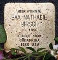 Stolperstein Gervinusstr 24 (Charl) Eva Nathalie Hirsch.jpg