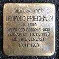 Stolperstein Karlsruhe Leopold Friedmann Kriegsstr 88 (fcm).jpg