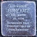 Stolperstein Saalfeld-Saale Wiegandstraße 1 Fanny Katz.jpg