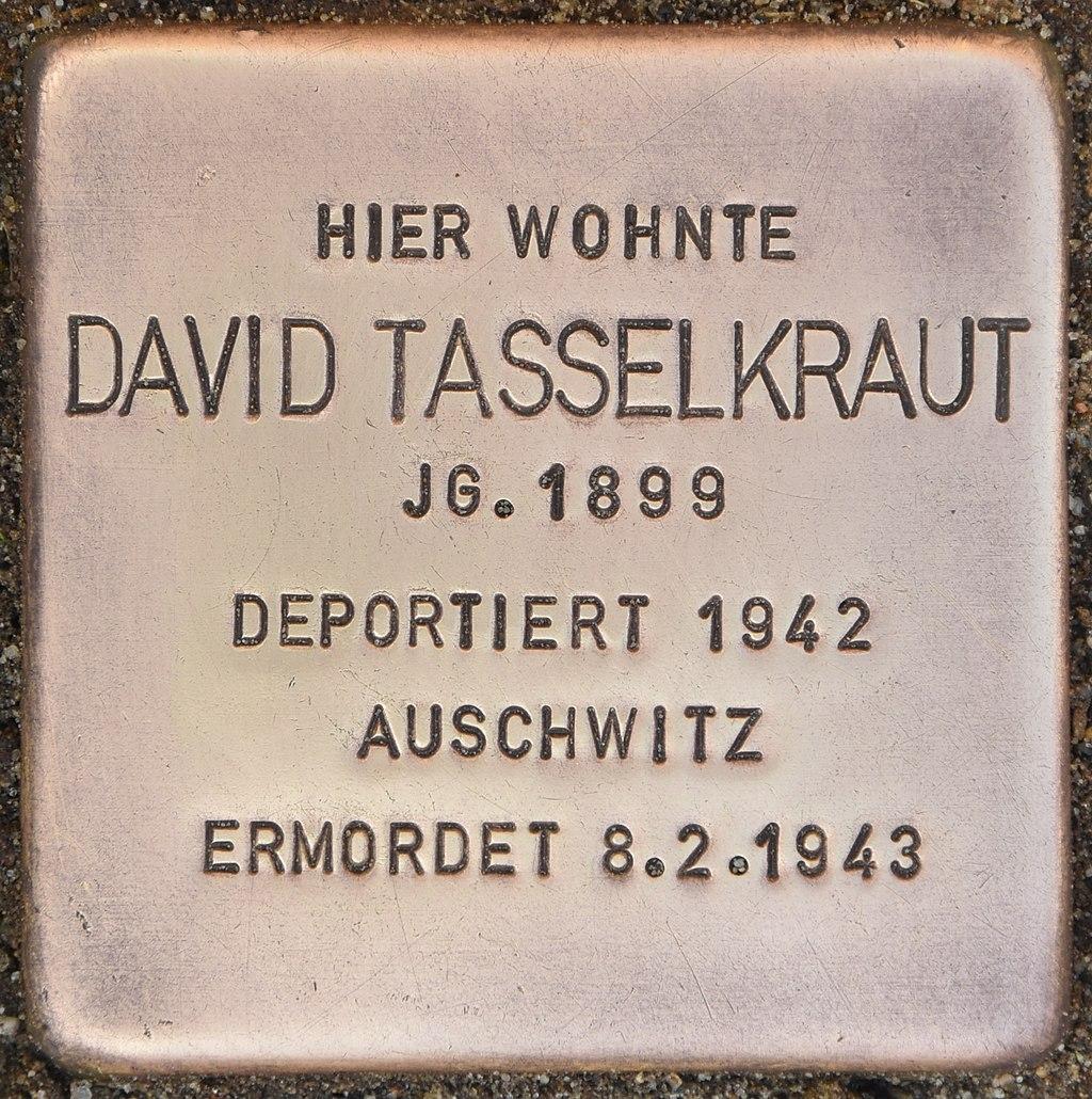 Stolperstein für David Tasselkraut (Luckau).jpg