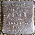 Stumbling block for Martin Simonsohn (Frankstrasse 12)