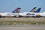 Stored Boeing 747s 'N758SA' & 'N355MC'. Mojave, CA. 29-2-2016 (27787918901).jpg