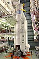 Strap-Ons are being integrated with Core Stage of GSLV-F09 at the Vehicle Assembly Building.jpg