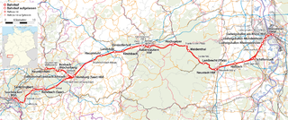 Mannheim–Saarbrücken railway Rail line in Germany