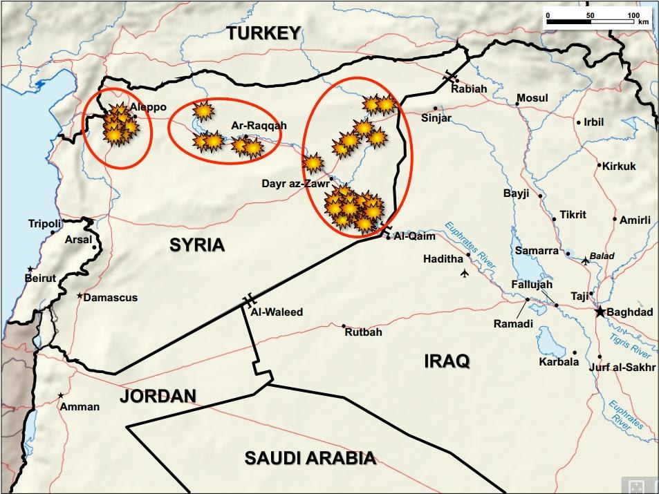 Strikes in Syria and Iraq 2014-09-23