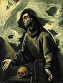 Studio of El Greco - Saint Francis receiving the stigmata, Frati 59c.jpg