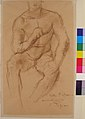 Study for a bronze sculpture, Athlète au Repos MET 56.89.2.jpg