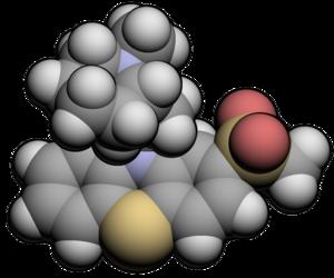 Sulforidazine - Image: Sulforidazine 3d