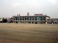 The former terminal of Pyongyang Sunan International Airport