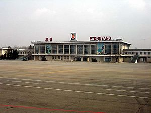 Pyongyang International Airport - Image: Sunan airport terminal