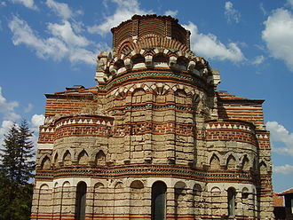 Church of Christ Pantocrator, Nesebar - View of the elaborately decorated apse from the east